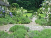 The lavender terrace looking towards the formal garden